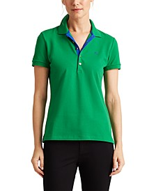 Petite Stretch Polo Shirt
