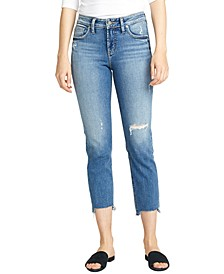 Avery Distressed Cropped Jeans