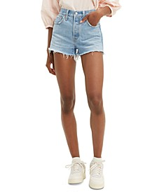 501 Original Distressed Denim Shorts
