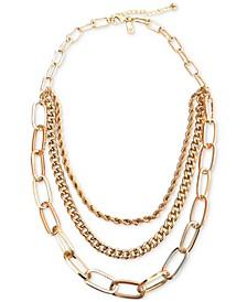 """INC Gold-Tone Multi-Chain Layered Necklace, 19"""" + 3"""" extender, Created for Macy's"""
