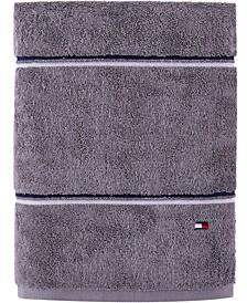 """Modern American Double Stripe  30"""" x 54"""" Cotton Bath Towel"""