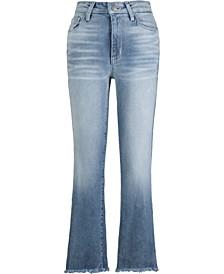 Frayed-Hem Flare Jeans