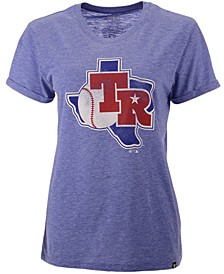 Women's Texas Rangers Throwback Match Tri-Blend Hero T-Shirt