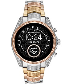 Access Unisex Gen 5 Bradshaw Tri-Tone Pavé Stainless Steel Bracelet Touchscreen Smart Watch 44mm