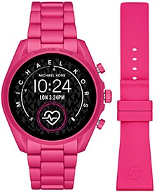 Access Unisex Gen 5 Bradshaw Pink Aluminum Bracelet & Pink Silicone Strap Touchscreen Smart Watch 44mm Gift Set
