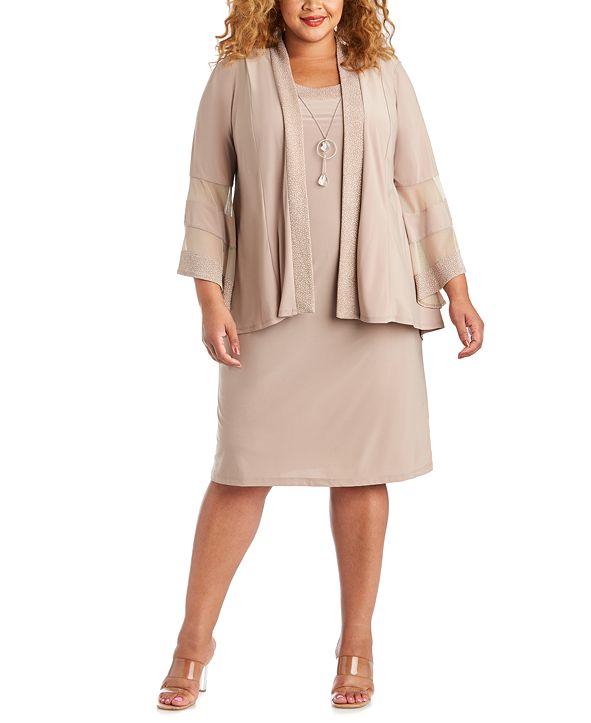 R & M Richards Plus Size Dress & Jacket