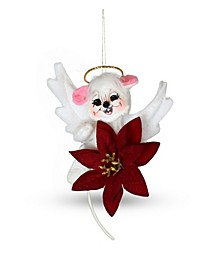 3in Poinsettia Angel