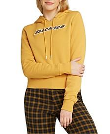 Juniors' Logo-Print Hooded Sweatshirt