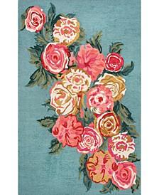 Rose Bouquet AHPE01B Mist 3' x 5' Area Rug