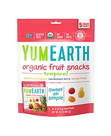 Organic Tropical Fruit Snacks, 3.1 oz, 4 Pack