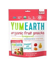 Yummy Earth Yumearth Organic Tropical Fruit Snacks, 3.1 oz, 4 Pack
