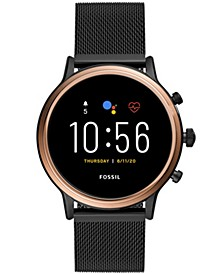 Tech Gen 5 Julianna HR Black Leather Smart Watch 44mm, Powered by Wear OS by Google