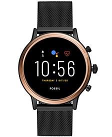 Tech Gen 5 Julianna HR Black Leather Smart Watch 44mm, Powered by Wear OS by Google