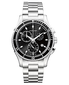 Men's Swiss Chronograph Jazzmaster Seaview Stainless Steel Bracelet Watch 44mm