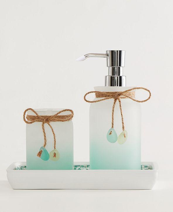 Indecor Home Sea Glass 3-Pc. Bath Accessory Set