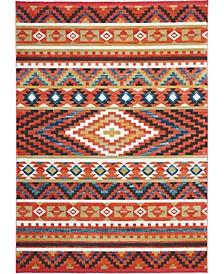 "Navajo NAV04 Orange 9'3"" x 13' Area Rug"