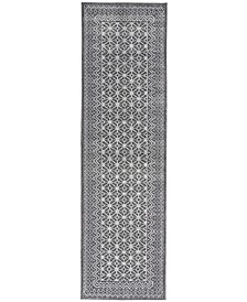 """Palermo PMR02 Charcoal 2'2"""" x 7'6"""" Runner Rug"""