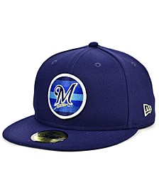 Men's Milwaukee Brewers Circle Fade 59FIFTY-FITTED Cap