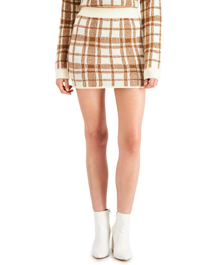 WYNTER - Plaid Sweater Mini Skirt