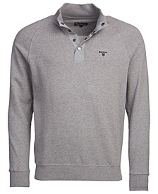 Men's Snap-Close Cotton Sweatshirt