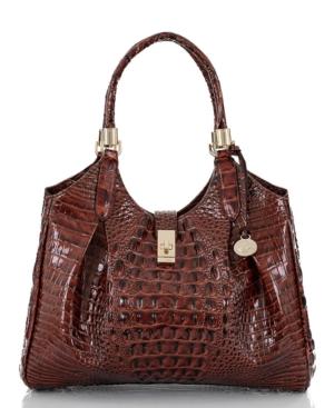 Celia Melbourne Embossed Leather Satchel