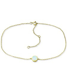 Lab-Created Opal Ankle Bracelet (Also in Cubic Zirconia), Created for Macy's