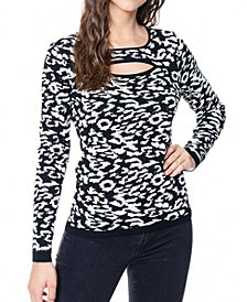 Fever Women's Cut Out Neck Sweater