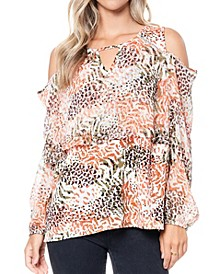 Women's Cold Shoulder Blouse
