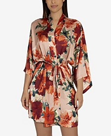 Orianna Floral Wrap Robe, Online Only