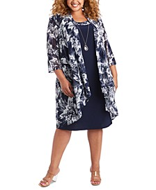 Plus Size Mesh Jacket & Dress