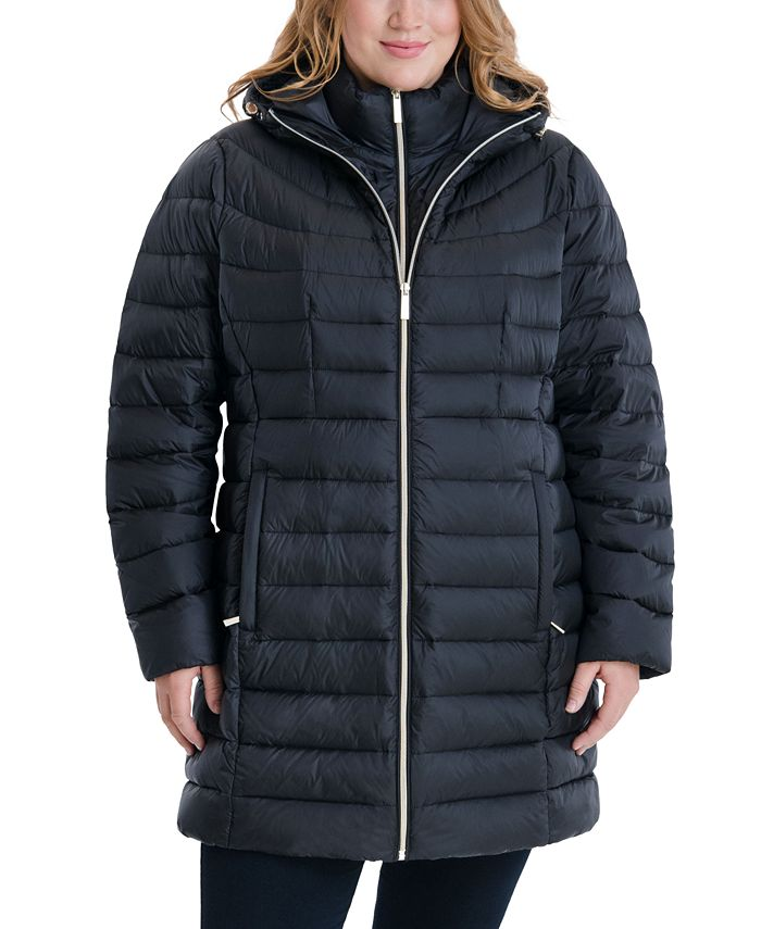 Michael Kors - Plus Size Hooded Packable Puffer Coat