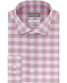 Men's Airsoft Slim-Fit Performance Stretch Check Dress Shirt