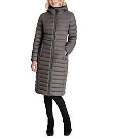 Michael Michael Kors Hooded Down Maxi Packable Puffer Coat, Created for Macy's