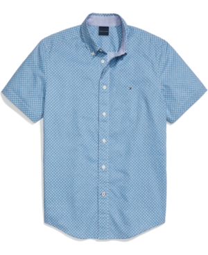Tommy Hilfiger Adaptive Men's Charles Custom-Fit Geo-Print Shirt with Magnetic Buttons