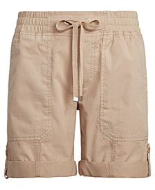 Petite Cotton Twill Shorts