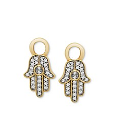 Diamond Hamsa Hand Earring Charms (1/10 ct. t.w.) in 14k Gold