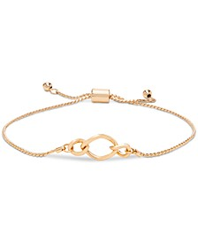 Gold-Tone Circle Slider Bracelet, Created for Macy's