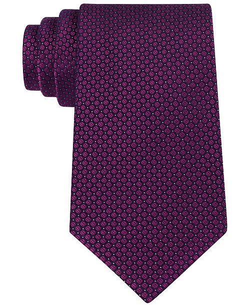 Slim Textured Silk Tie Calvin Klein Q5QUb