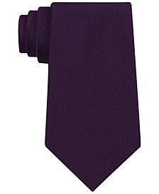 Calvin Klein Silver Spun Solid Slim Tie