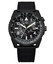 Eco-Drive Men's Promaster Black Leather Strap Watch 42mm