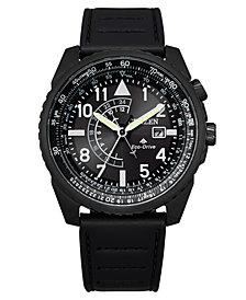 Citizen Eco-Drive Men's Promaster Black Leather Strap Watch 42mm