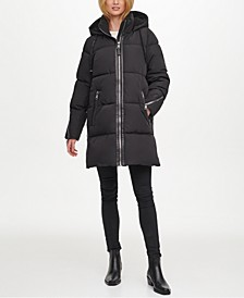 Fleece-Lined Hooded Puffer Coat