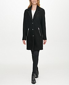Single-Breasted Bouclé Walker Coat