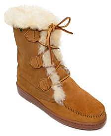 Women's Juniper Sheepskin Lace-Up Boots