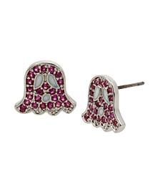 Cubic Zirconia Ghost Stud Earrings