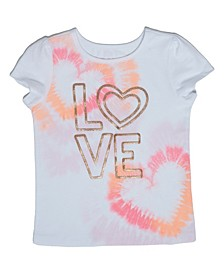 Little Girls Tie Dye Love T-shirt