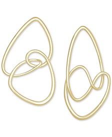 14k Gold-Plated Abstract Statement Earrings