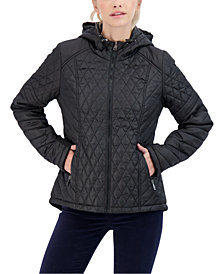 Sebby Juniors' Hooded Water-Resistant Quilted Coat