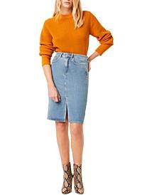 Luna Cotton Waffle-Knit Sweater