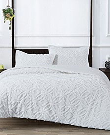 Wedding Ring 2 Cotton 3-Pc. Tufted Chenille King Comforter Set